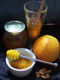 Orange Almond and Honey Face Scrub