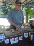 Lorne selling honey