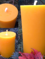 Smooth Beeswax Pillar Candles